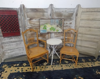 Set Of Six Italian Caned Chairs