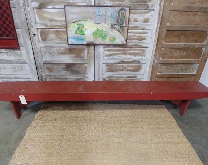 VINTAGE RED BENCH # 17082