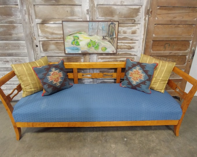 Elegant Burled Maple Bench/Daybed # 182532