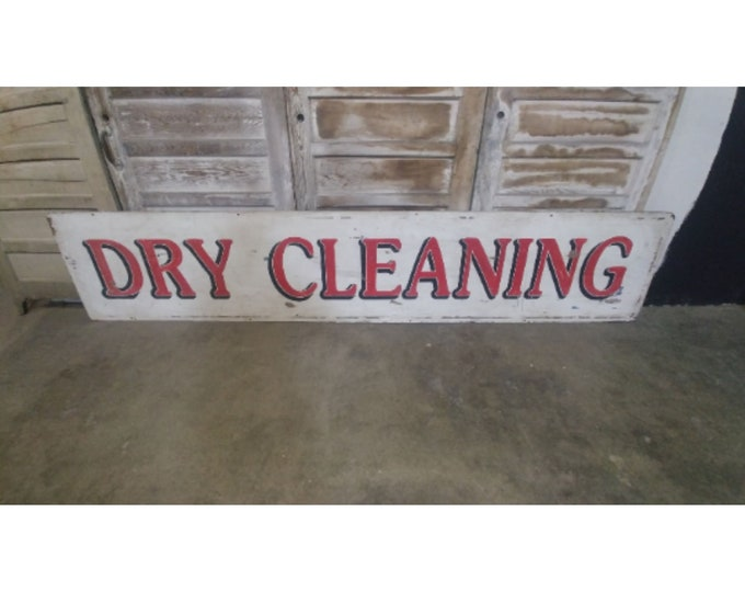 Vintage Dry Cleaning Sign # 183165
