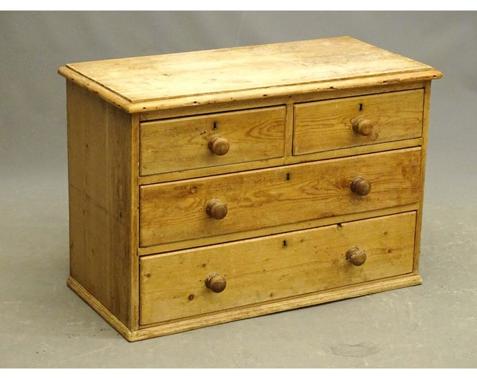1850,S English Pine Chest With Three Drawers # 185822