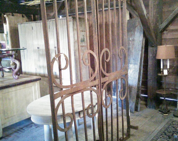 Pair Of Cast Iron Gates From A Cemetery In Amsterdam, NY. Civil War Era # 17185