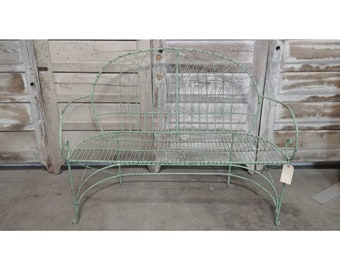 Iron Bench With Curved Arm # 185878