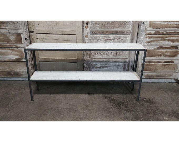 Iron And Barn Wood Two Tier Console # 186157