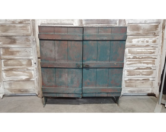1860'S Two Door Primitive Cupboard # 185650