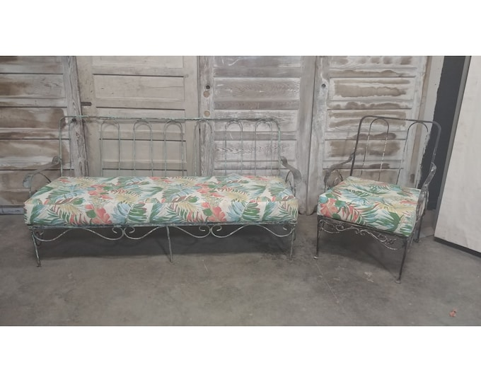 1930,S Iron Settee And Chair # 186172