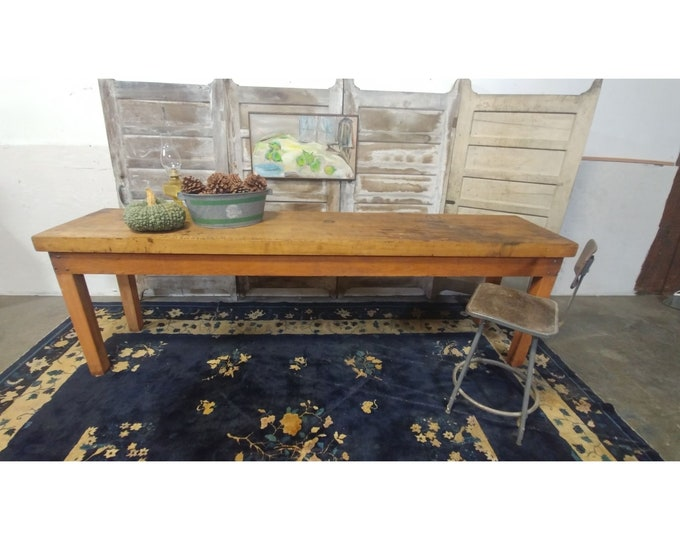 1900'S BUTCHER BLOCK TABLE # 182071