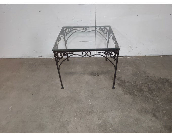 1940,S Iron And Glass Table # 186193