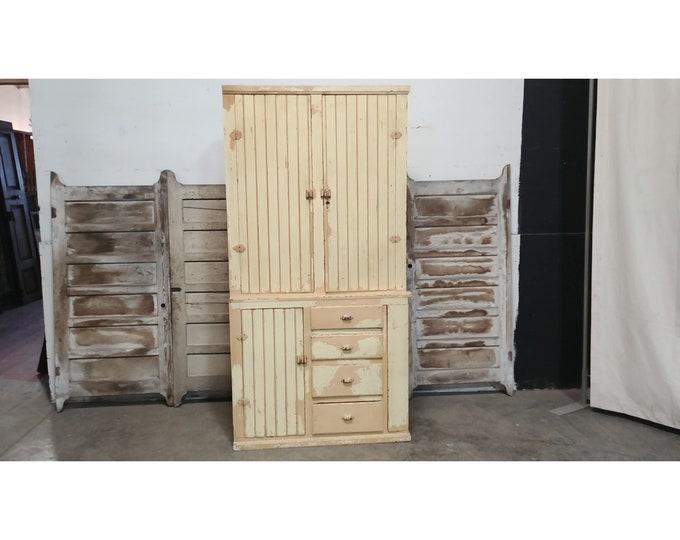1860'S Cupboard With Blind Doors # 185602