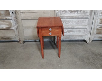 19TH C Two Drawer Dropleaf Work Table #  185842