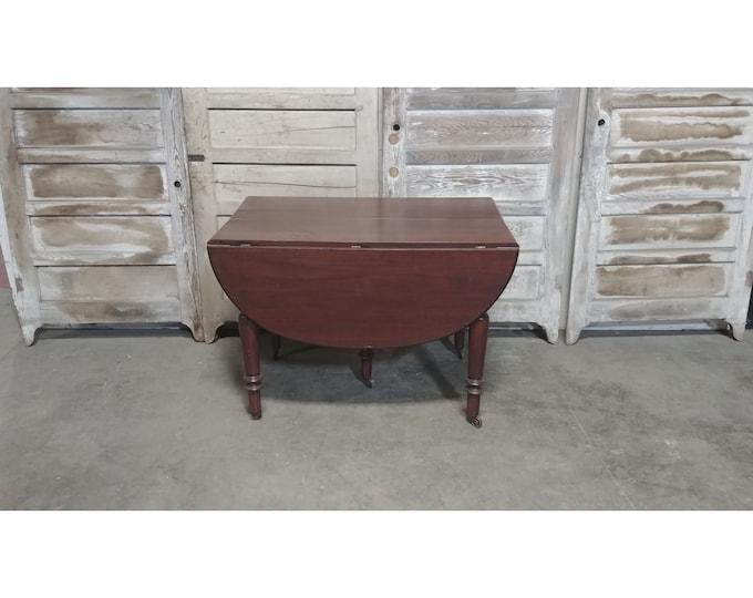 1860'S Mahogany Drop Leaf Table #  185604