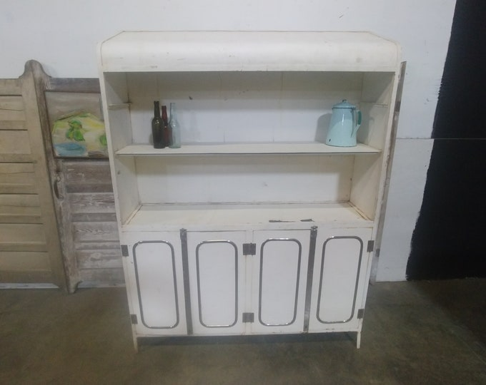 UNUSUAL 1930'S METAL CABINET # 183478