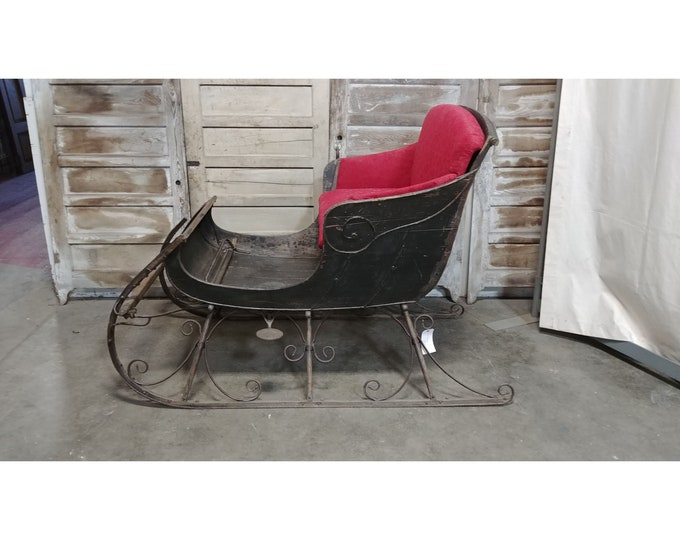 1840,S Cast Iron And Wood Sleigh # 185324