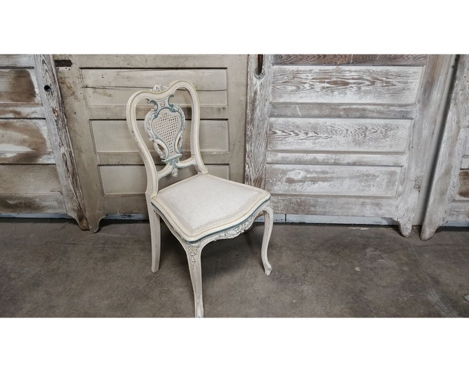 ELEGANT 1860'S FRENCH CHAIR # 185356A
