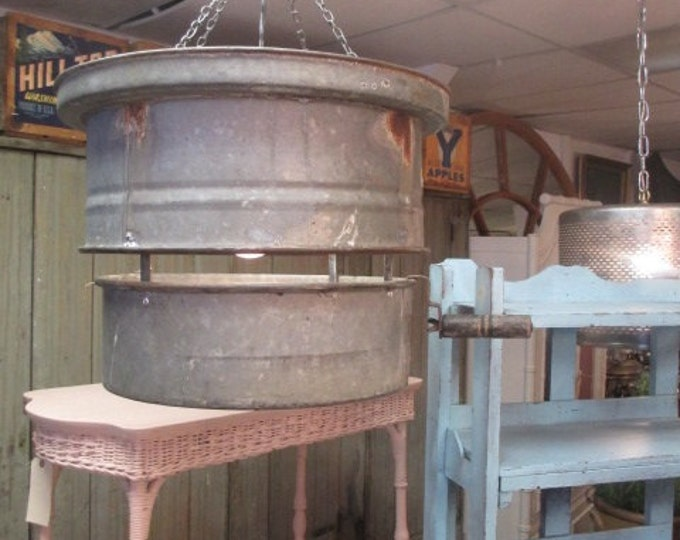 Old Coal Sifter Light Fixture # 182000