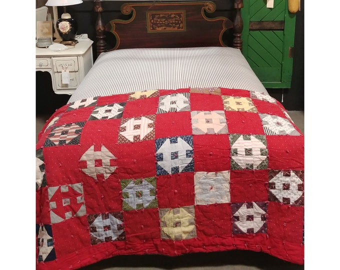 1840'S Bed With Original Paint Custom Base And New Custom Mattress - 185986