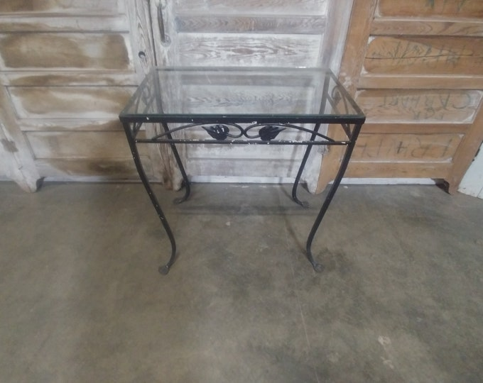 1920'S IRON & GLASS TABLE # 184544