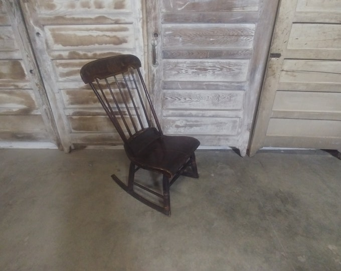 1830'S Plank Seat Rocking Chair # 184668