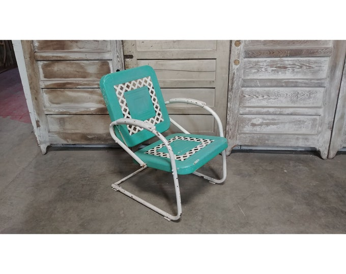 1940,S Iron Motel Spring back Chair # 185875