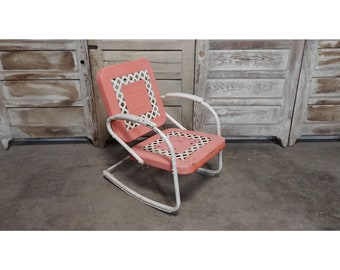 1940'S Iron Motel Spring Back Chair # 185876