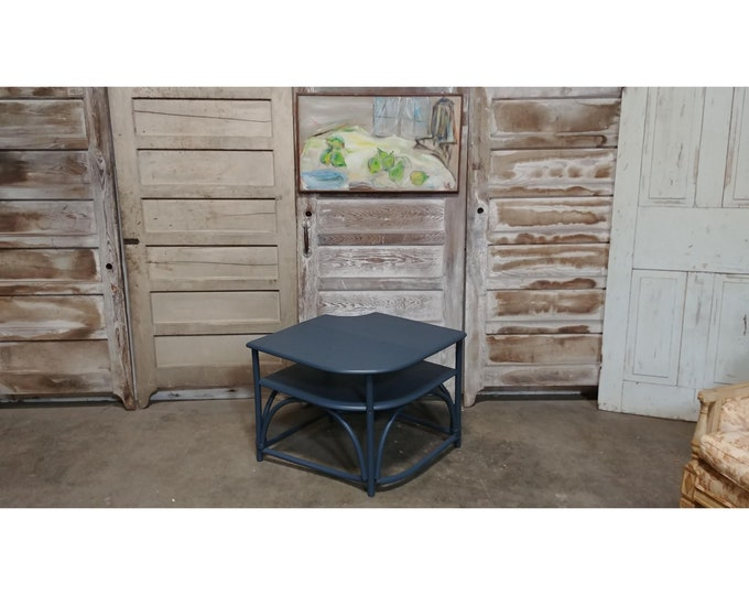1950's PAINTED BAMBOO TABLE # 184226