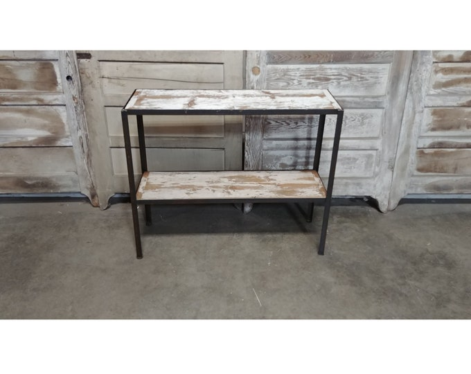 Iron And Wood Console # 185631