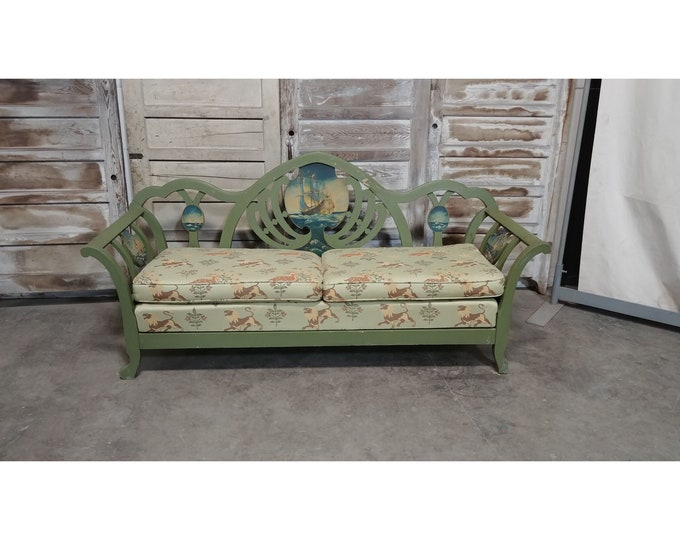 1930'S PAINT DECORATED BENCH # 185553