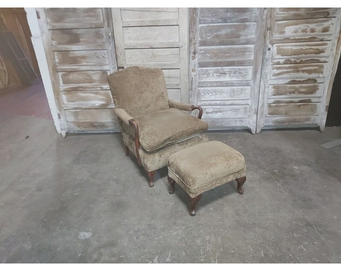 1920'S ARM CHAIR & FOOTSTOOL # 186258