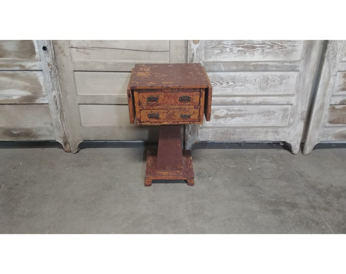 1860'S Two Drawer Drop Leaf Table # 185600