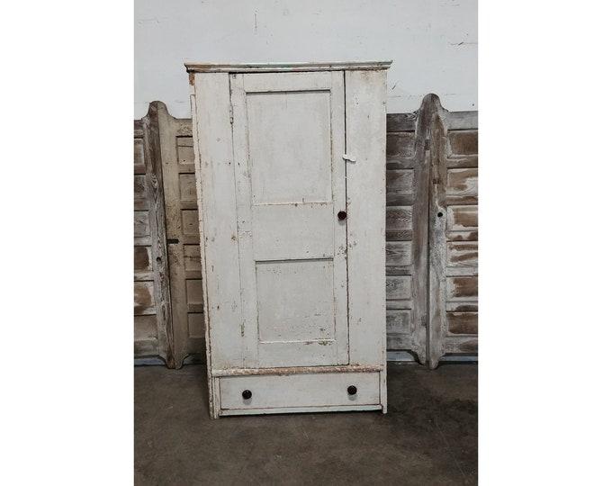 1850'S One Door Cupboard with Interior Shelving - 186045