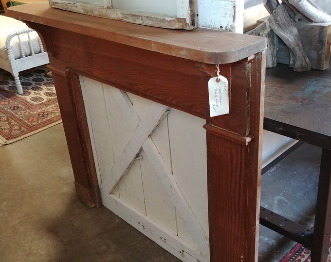 1880'S GRAIN PAINTED MANTEL # 181547