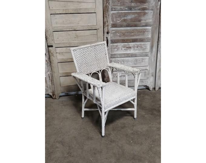 Unusual 1930's Wicker Chair - 185376