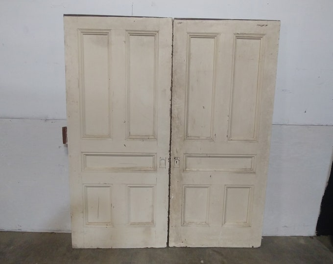 1890'S PANELED POCKET DOORS # 182899