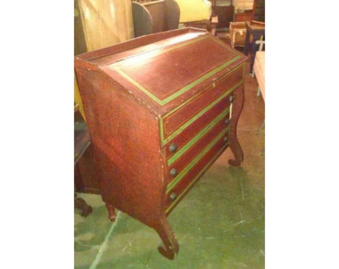 1840's Empire Drop Front Desk With Original Paint # 17366