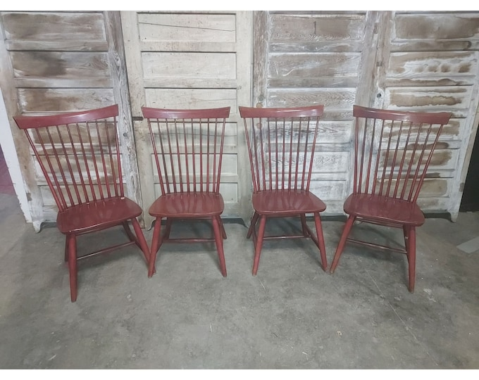 Set Of Four Spindle Back Chairs # 186254
