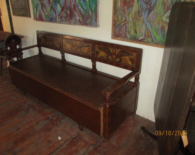 1800,s American Faux Painted Bench # 17473