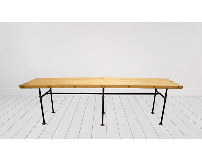 1920'S 11 Foot Long Butcher Block Table # 184614