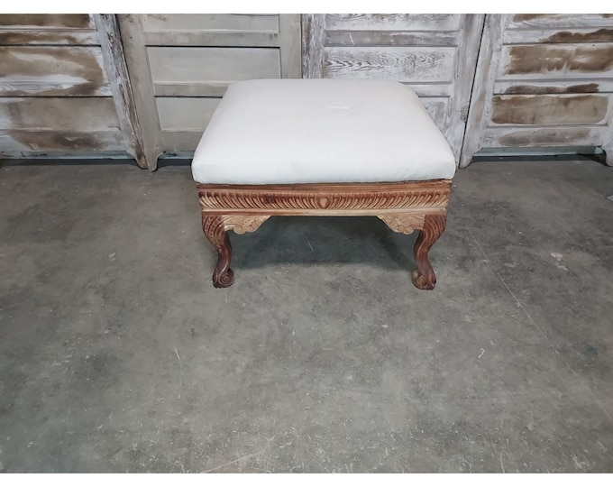 LARGE CARVED OTTOMAN # 186219