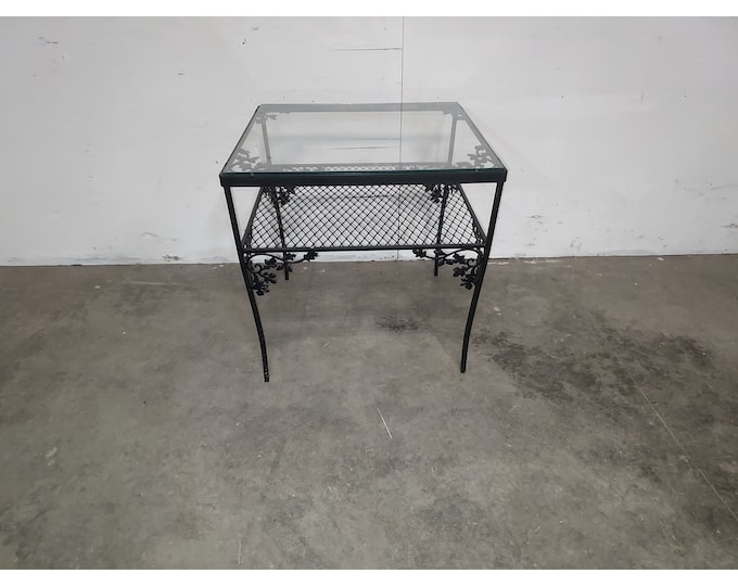 1940,S Iron And Glass Table # 186192