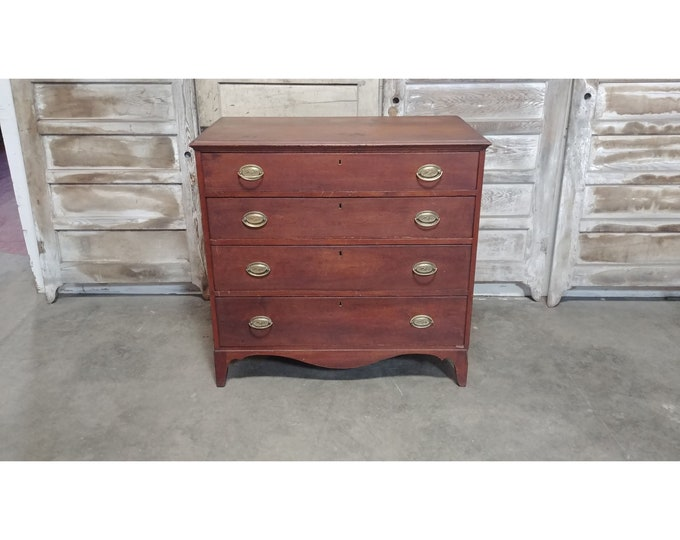 Early 1800's Four Drawer Chest Of Drawers # 186108