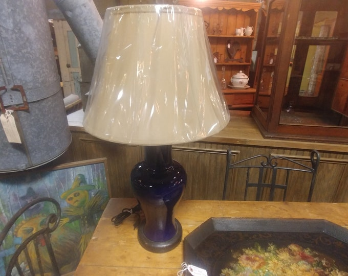 Stunning Blue Table Lamp # 184305