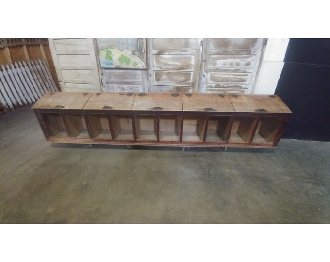 10 Bin Country Store Cabinet # 183448