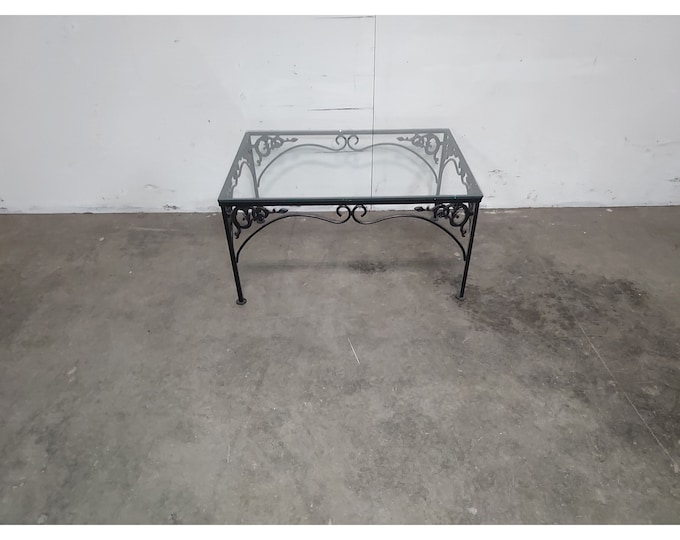 1940,S Iron And Glass Table # 186194