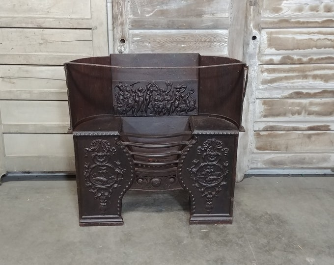 1840'S Cast Iron Fireplace Insert # 185510
