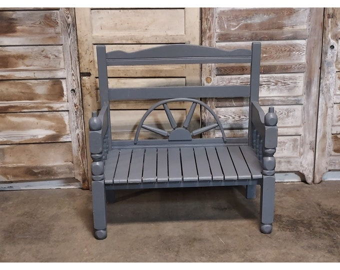 Home Made Bench In Gray Paint # 186185
