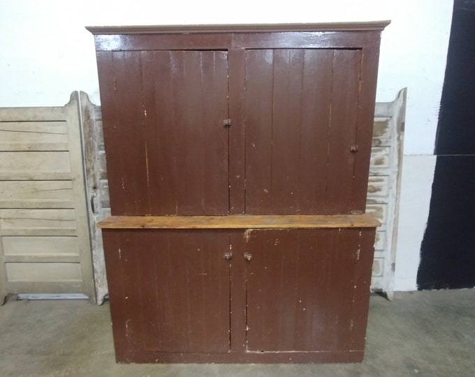 Mid 1800'S Four Door Cupboard # 183089