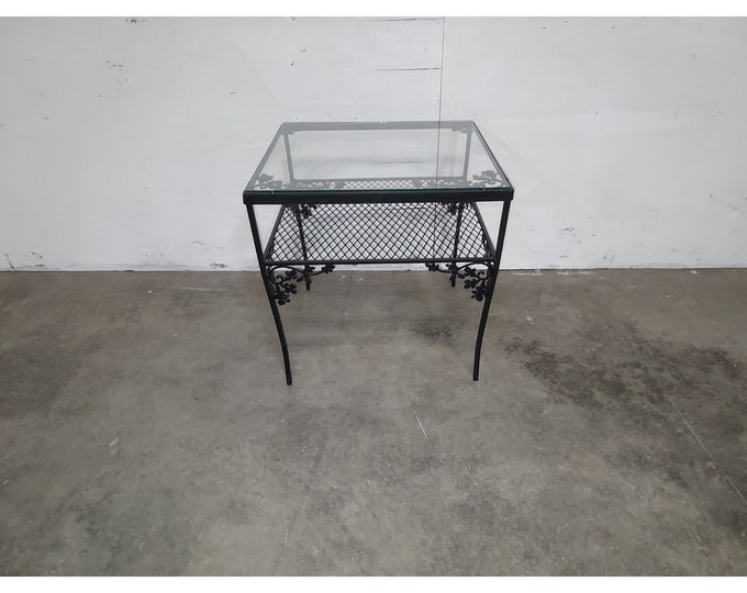 1940,S Iron And Glass Table # 186191