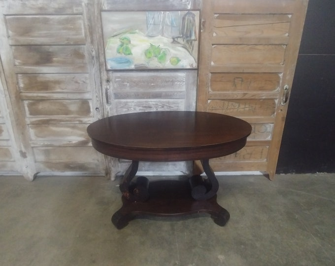 1920'S Mahogany One Drawer Empire Style Table # 184104