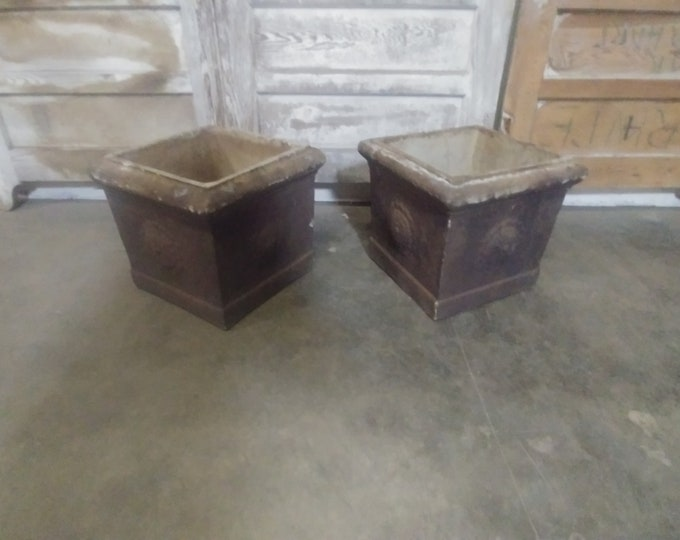 Pair Of Mid 1800's Planters # 183899