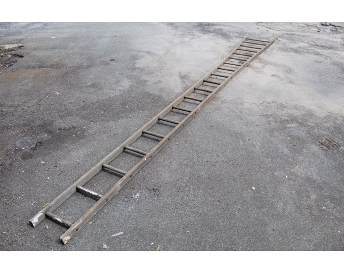 Primitive 19 Foot Long Hay Ladder For Apple Picking. - #185197